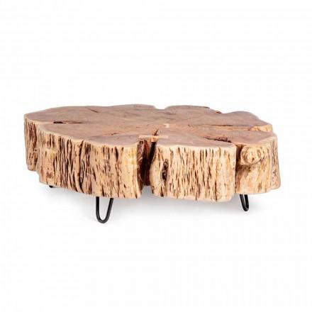 Masă de cafea Homemotion cu blat în formă de lemn de salcâm - Nabucco
