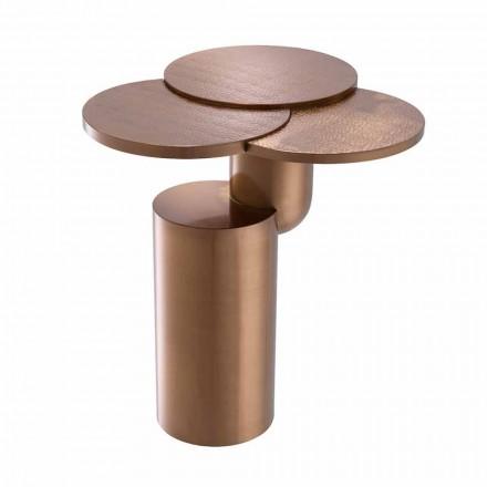 Masă de cafea design din oțel finisat cupru periat - Olbia
