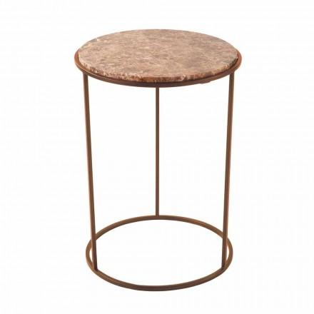 Masă de cafea rotundă modernă din metal și marmură de înaltă calitate - Raphael