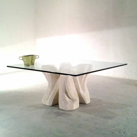 Piața de masă de piatră din piatră Vicenza și cristalul de cristal de mână