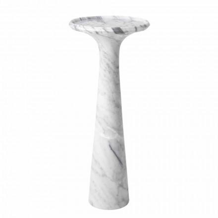 Masă de cafea cu design rotund în marmură albă de Carrara - Udine