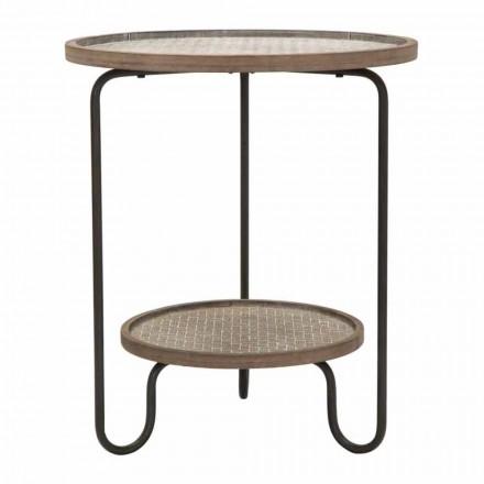 Masă rotundă de fier și MDF de design modern - Luther