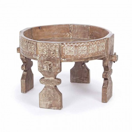 Masă de cafea în stil rustic Homemotion din lemn de mango - Sania