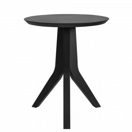 Masă de cafea din lemn rotund modern, design negru - Sperone