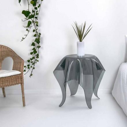 Tabelul design modern afumat Opt Plexiglas, made in Italy