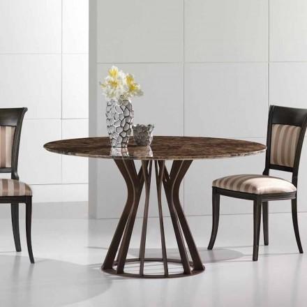 Masă de masă din marmură închisă emperador, design modern, Cesare