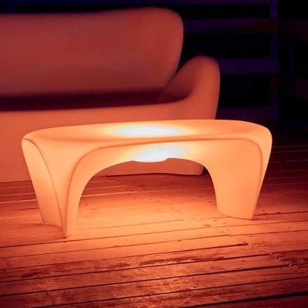 Mese de cafea luminoase RGB pentru design exterior sau interior din plastic - Crin de Myyour