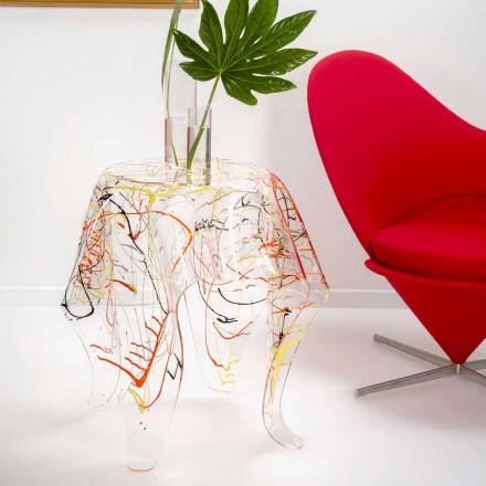Pânză de cafea modernă din piele de plexiglasă din Italia, Otto