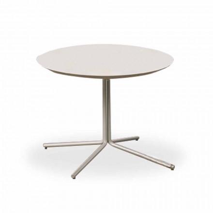 Masă de cafea rotundă în MDF alb de design modern 2 dimensiuni - Geone