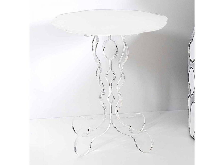 alb rotunde cu diametrul de masă 36cm design modern Janis, made in Italy