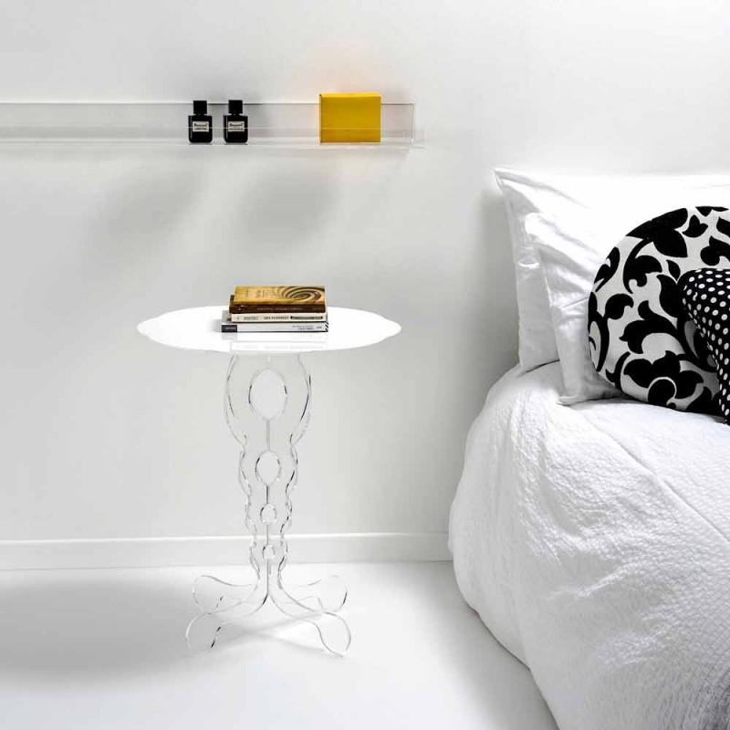 alb rotunde cu diametrul de masă 50cm design modern Janis, made in Italy