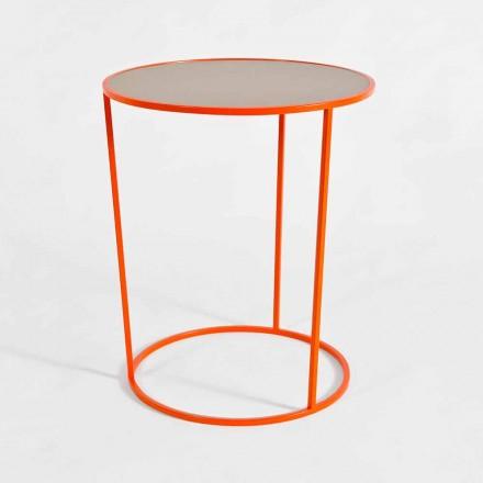 Masă de cafea rotundă modernă din metal colorat Made in Italy - Raphael