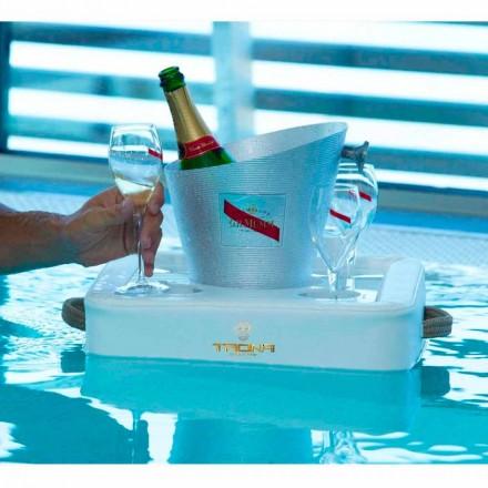 Masuta de cafea - tava plutitoare de design din piele faux nautice Trona