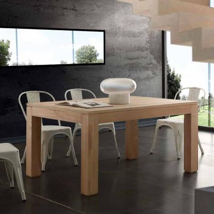 Extinderea masă cu picioare din lemn masiv si listellare top Indiana