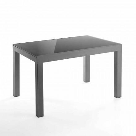 Masă extensibilă de design din sticlă și metal - Guerriero