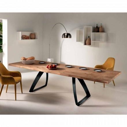 Extensibil de masă furniruite stejar si metal Travis