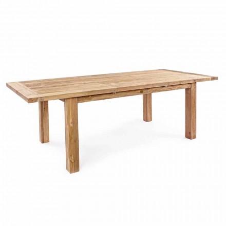 Homemotion - Masă de grădină extensibilă de lemn Hunter Teak până la 250 cm