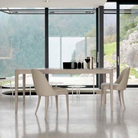 Tabelul de masă din lemn natural de nuc design modern gri Matis