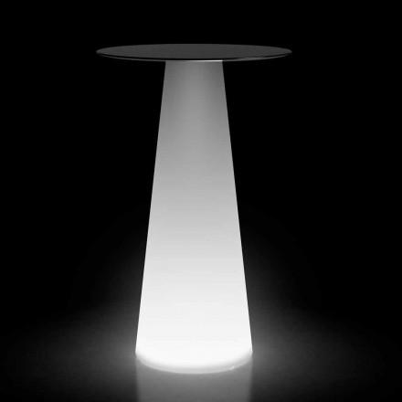 Masă în aer liber cu lumină LED în HPL și polietilenă Made in Italy - Forlina