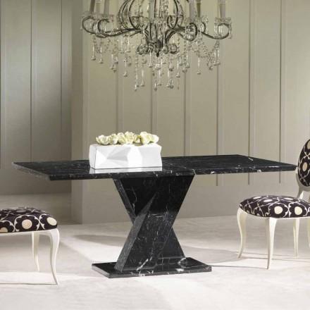 Masă de luat masa din marmură neagră, design clasic, 200x100 cm Byron
