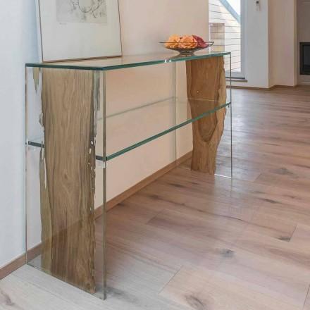 Consola de masă din lemn și sticlă delfin Fenice din Veneția