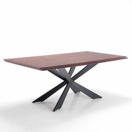 Masă de sufragerie din design modern în Mdf și metal - Hoara