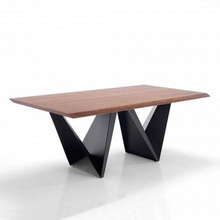 Masă de sufragerie din design modern în Mdf și metal - Helene