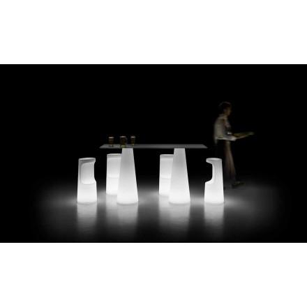 Masă de exterior de design cu bază luminoasă cu lumini LED Made in Italy - Forlina