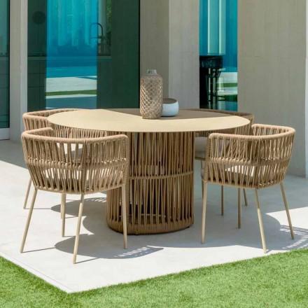 Grădina de masă rotundă de la Talenti din aluminiu, proiectată de Palomba