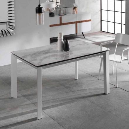 Masă extensibilă cu masă de ceramică cu efect de marmură, Nosate