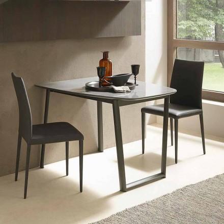 Masă extensibilă de masă Până la 170 cm în ceramică Made in Italy - Tremiti