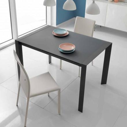 mese de masă de sticlă de masă și metal Oddo