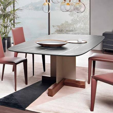 Masă de luat masa cu blat din ceramică Made in Italy - Masă Bonaldo Cross