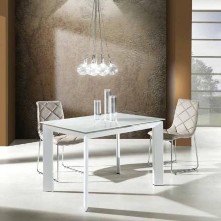 masă cu partea de sus sticla pictata bianco Zeno