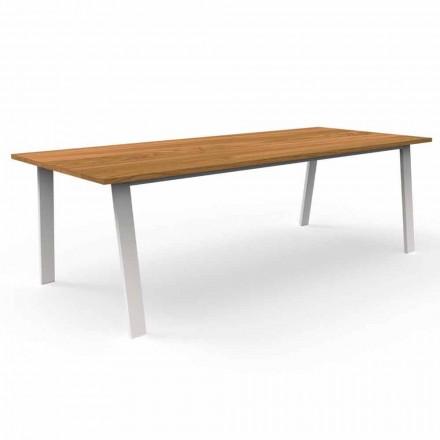 Masă de luat masa din grădină din lemn și aluminiu Iroko - Cabană Talenti