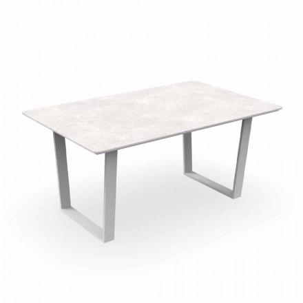 Masă de luat masa pentru grădină modernă din aluminiu și Gres - Alabama Alu Talenti