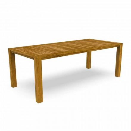 Masă de luat masa modernă în grădină din lemn de castan - Ebi by Talenti