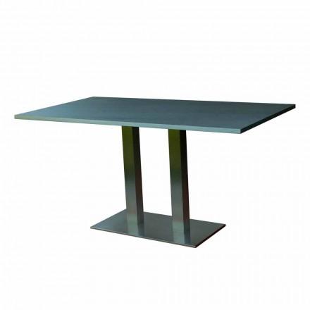 Design masa de masă cu piatră laminată de top, 160x90cm, Newman