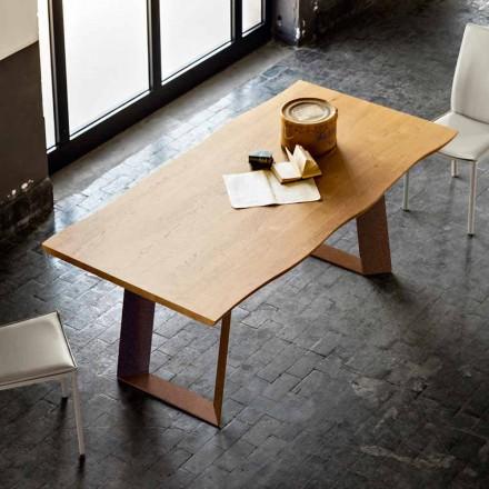 Masă de design modern, 100x200 cm, din lemn si metal Plant