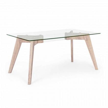 Masă de luat masa cu design modern Homemotion cu blat din sticlă - Piovra