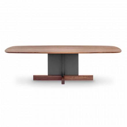Masă de luat masa design cu bază încrucișată Made in Italy - Masă Bonaldo Cross