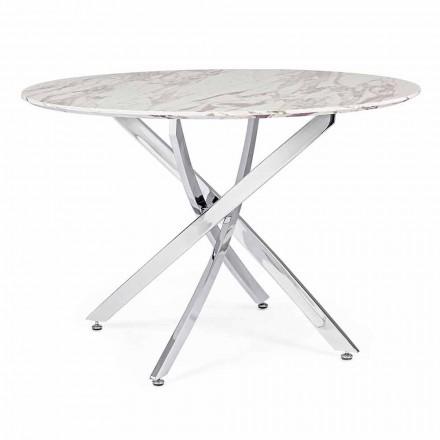 Masă de luat masa cu design rotund în MDF Homemotion - Gregory