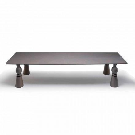 Tabelul designer de mese din lemn de stejar gri, made in Italy, Tezeu