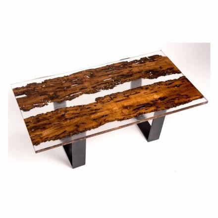 Masa din lemn Iuda mese și lucrate manual rășină delfin