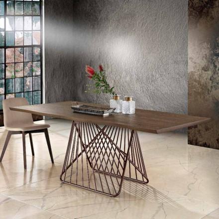 Masă de masă modernă din lemn masiv din Italia