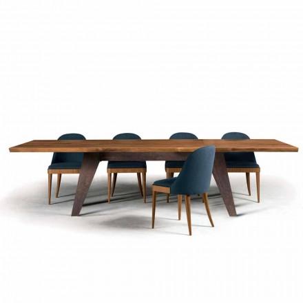 Masă din lemn de nuc scoarță de copac mese de design natural, Antonio