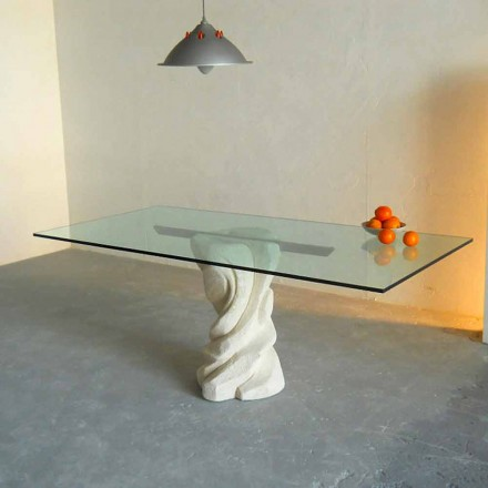 masă de piatră și sticlă moderne de design Uranus