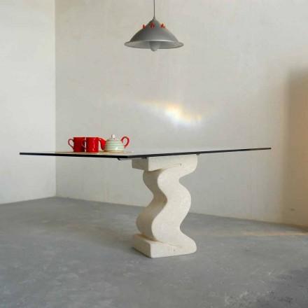 masă de piatră și Anteros moderne de design de cristal