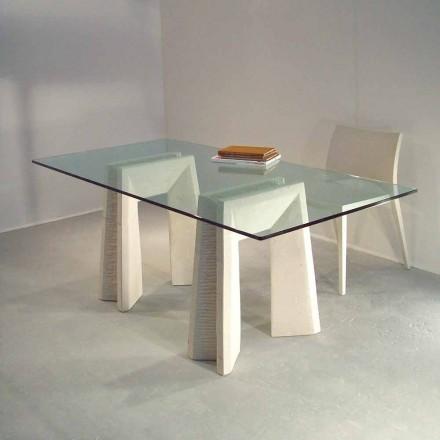 masă de piatră și de cristal design modern Arianna