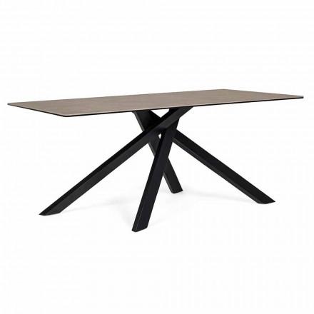 Masă de luat masa modernă cu ceramică și sticlă Top Homemotion - Ringo